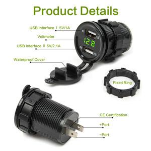 USB зарядка вольтметр